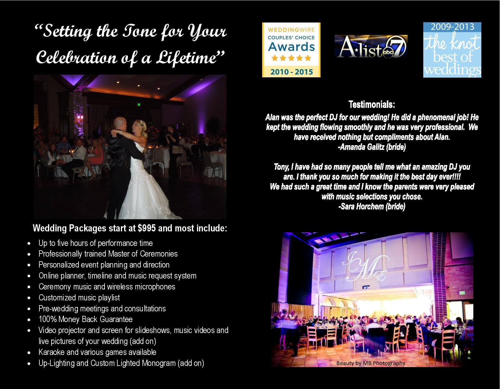 Denver Wedding DJ Brochure 2 - Best Denver Wedding DJ, Wedding ...